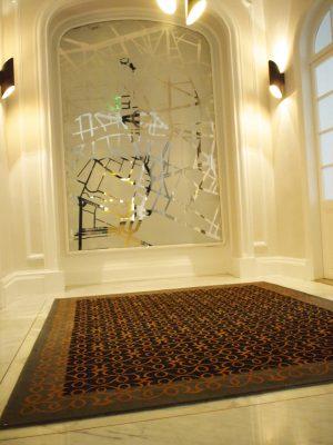Tapis Espace d'accueil d'un immeuble de bureau afin de créer un espace d'attente plus chaud