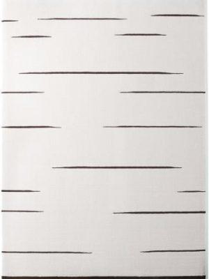 tapis alp_ ligne blanc noir