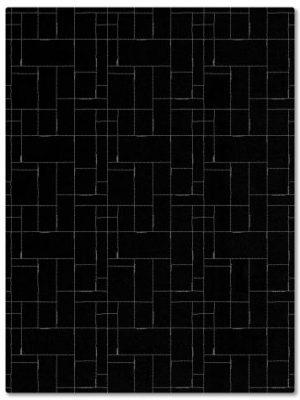 tapis alp_ cadre noir geometrique