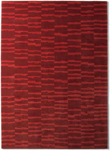 tapis alp_ rouge geometrique