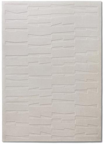 tapis alp_ geometrique blanc