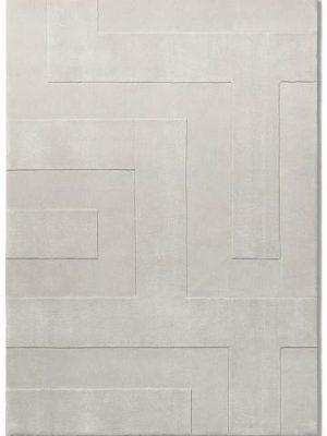 tapis alp_ blanc reliel