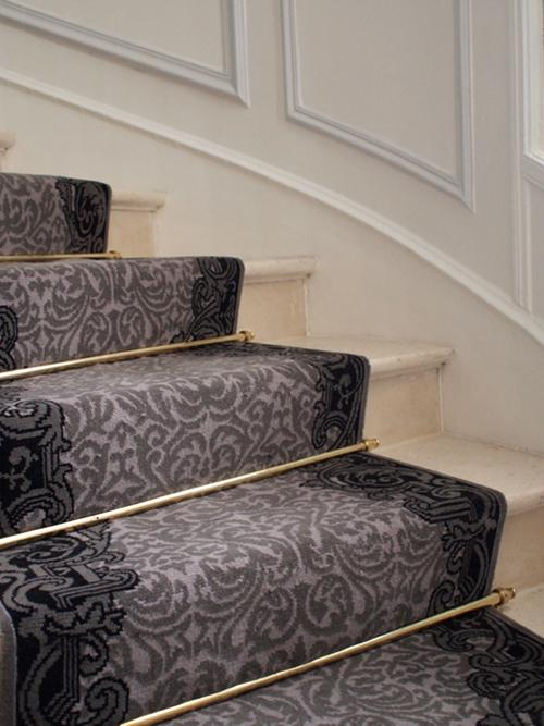 tapis escalier chemin passage paris laine polyamide