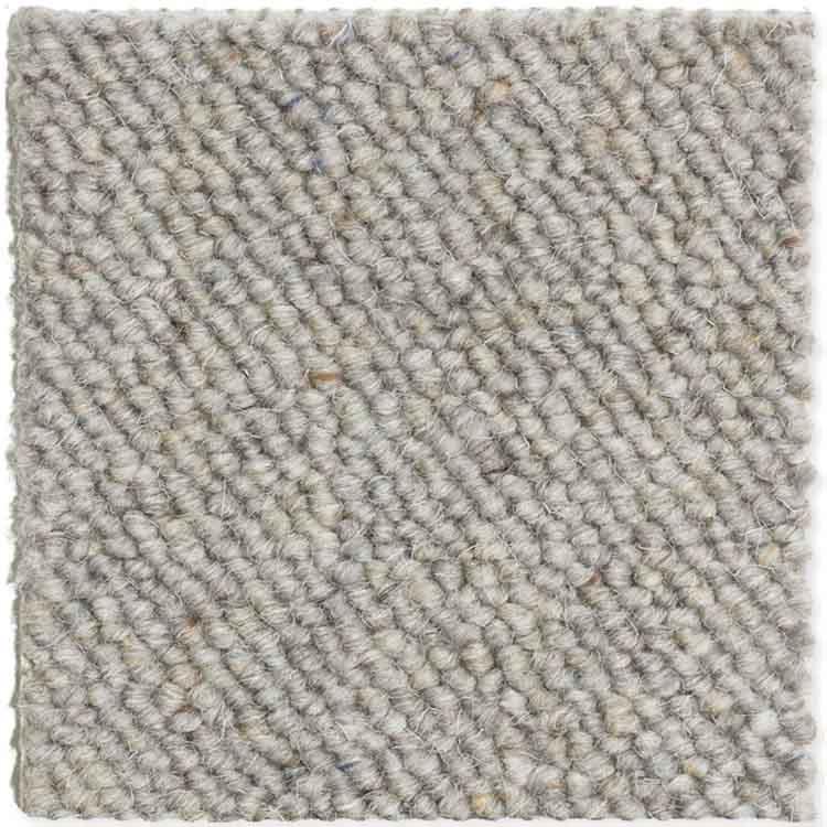 moquette bouclée laine grise