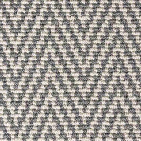 moquette tissé plat grise et blanche