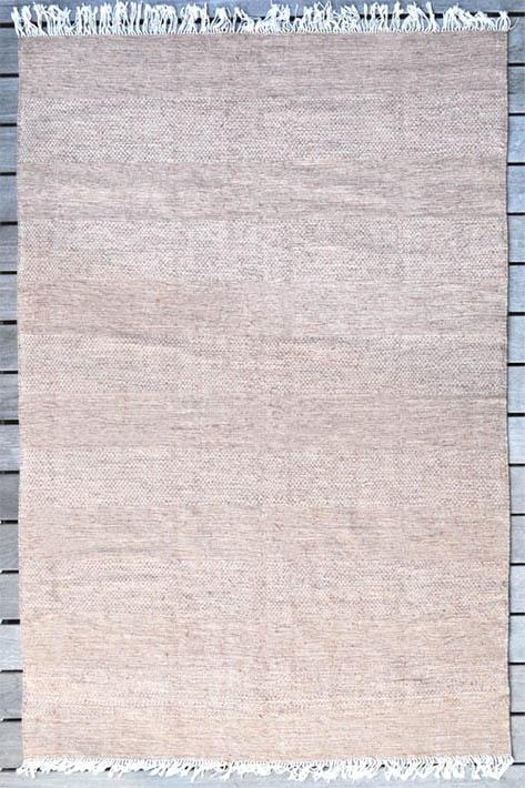 tapis d'intérieur rose à frange
