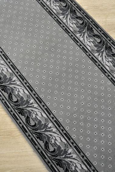 tapis déstockage gris avec fleurettes et bordure florale