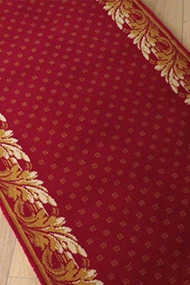 tapis destockage versailles rouge et or