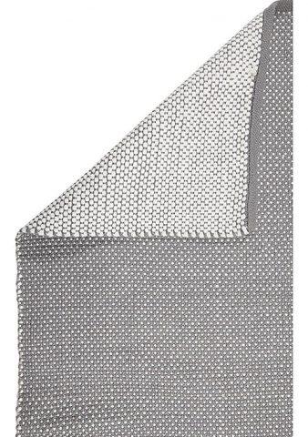 tapis gris à pois blanc
